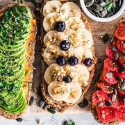 Delicious Toast With Toppings